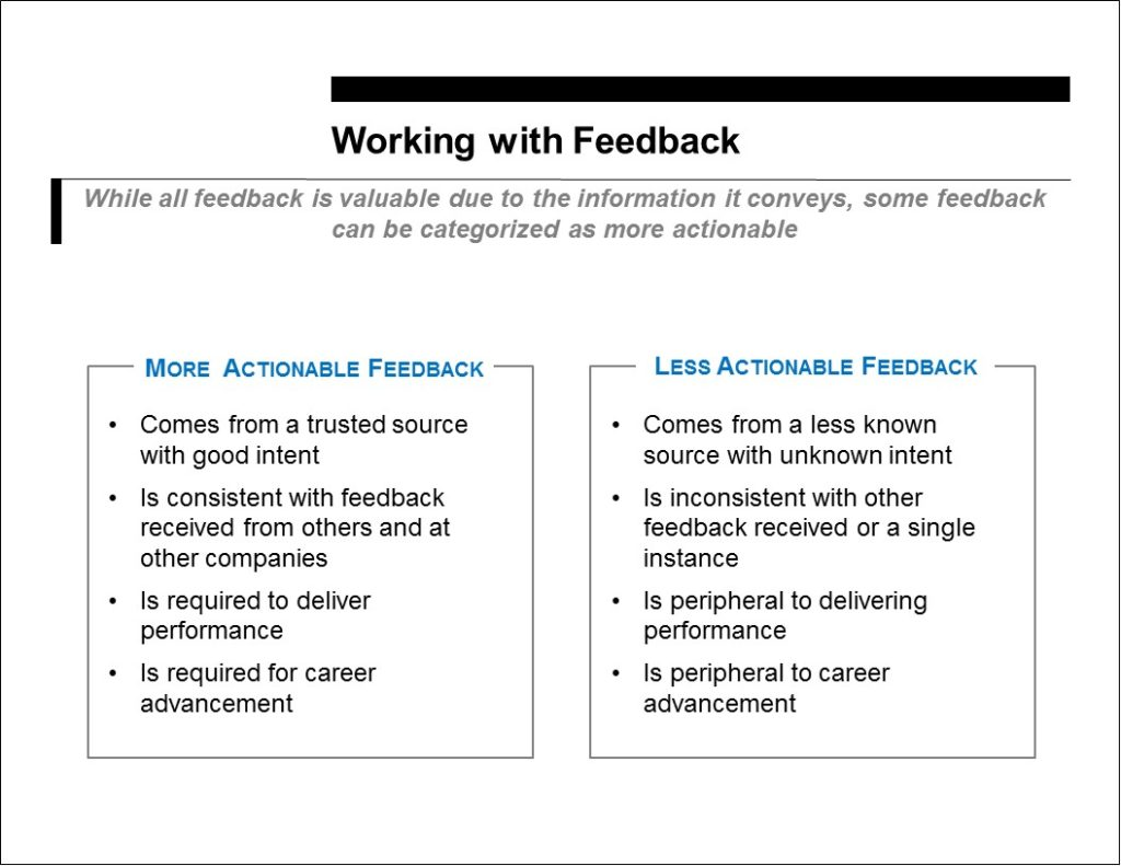 Working with Feedback