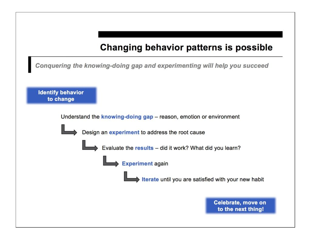 changing behavior patterns is possible